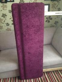 King size purple headboard