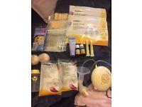 Breast pump and bits