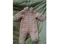 Baby pink all in 1 coat