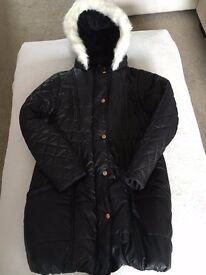 TED BAKER girls black coat age 12