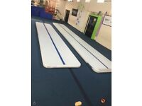 Gymnastics air tumble tracks