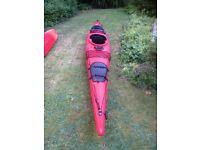 Kayak Kodiak Prijon, sea touring, good condition, loads of storage includes skirt and paddle