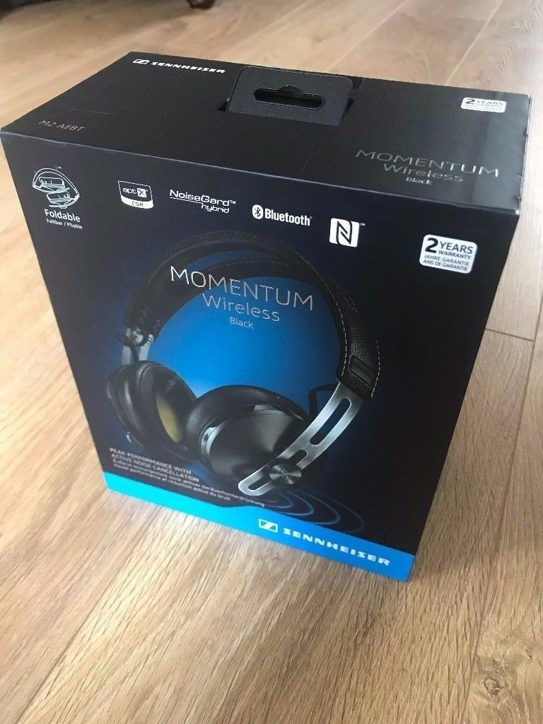 Sennheiser Momentum Wireless Headphones Black Around Ear Brand New
