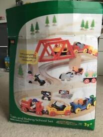 Brio Train and Riding School Set
