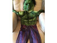 Hulk Fancy Dress Costume Aged 5/6