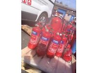 Unused fire extinguisher big and small big 15 small 8