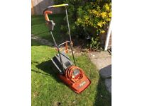 Flymo Sprintmaster XE300 hover mower with grass box. Good working order.