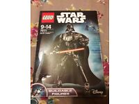 Lego Darth Vader StarWars figure complete & boxed