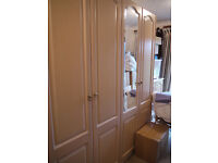 Schreiber Double Wardrobe plus Cupboard. Open to offers. As new condition.