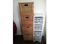NEXT 2 SETS NEW COND DRAWERS SETS
