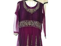 Women's Anarkali Dress size 8-10, purple