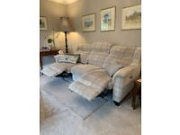 Parker Knoll 2 seater sofa and 3 seater recliner sofa