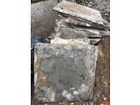 Oringinal flagstone flooring approx 3.5x3.5m