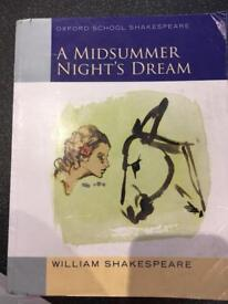 A Midsummer Night's Dream book. Oxford School Shakespeare