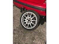 Turini 4 x 100 Alloy Wheel & 195 45 16 Tyre From Clio 172 / 182 / Cup