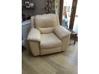 Lovely cream leather armchair