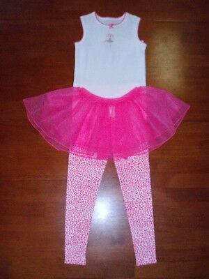 Toddler Girls 3 Piece Tutu Set PJ's by Carter  Chooz Fav Szs 3-5](Tutu Pajamas)
