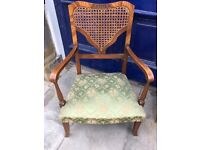 Vintage open armchair - Lovely detail . Good condition and quality.