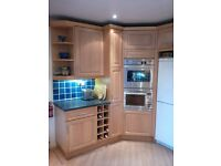 Kitchen units - complete set - solid maple doors, 10 base units, 7 wall units