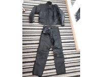 Black buffalo motorbike leathers jacket and pants various size