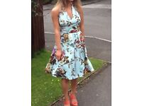 Ted Baker beautiful RaRa summer or prom dress, size 0 (fits size 6 UK), in perfect condition!
