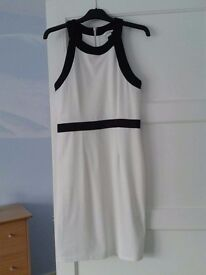 White and black dress size M