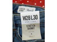 Men's stretch skinny jeans 28 cm waist