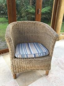 Two lovely wicker chairs