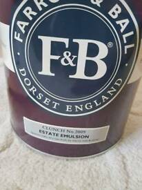 Farrow & Ball Paint 5L 'clunch' Estate Emulsion