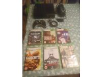 Latest Xbox 360 Slim E Console with 250gb hard drive , 1x controller + 6x games