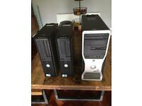 Dell Desktop Computers x 3