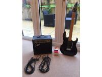 Washburn electric guitar, amp and cables