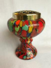 Vintage glass posey holder