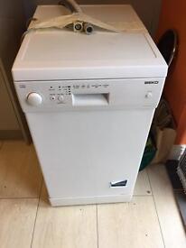 Below slimline dishwasher