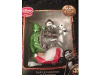 NIGHTMARE BEFORE CHRISTMAST COUNTDOWN CLOCK JACK OGGY SANTA TOYS ORNAMENT FIRE PLACE TREE