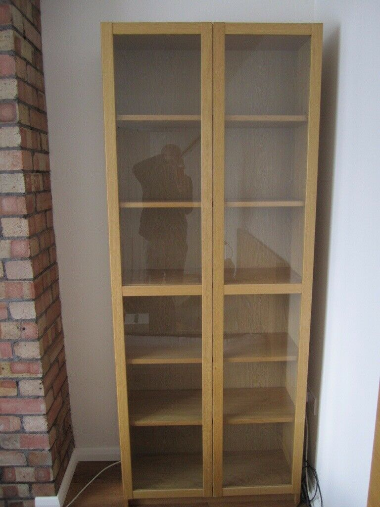 Ikea Billy Bookcase With Glass Doors In Fishponds Bristol Gumtree