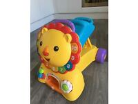 Fisher price lion walker and ride on