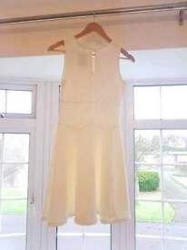 Miss Selfridges Cream Skater Dress