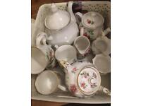 Selection of China teapots ect