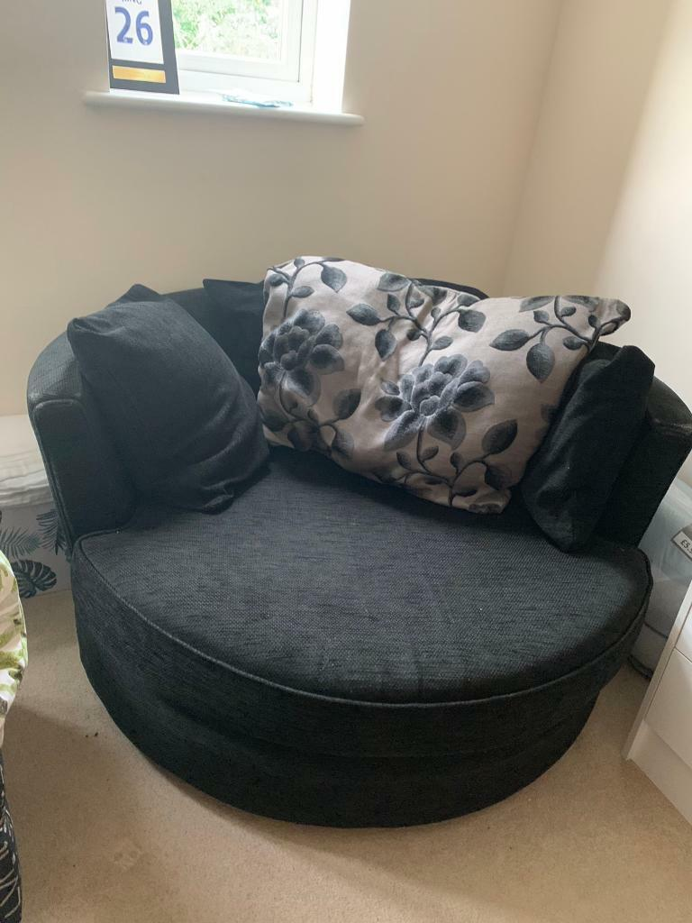 Free Large Black Swivel Chair Must Collect In Carterton