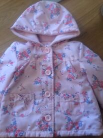 Girls pink coat 9-12 months