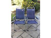 A pair of Lafuma Lightweight Camping/Garden Chairs