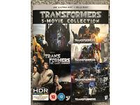 4K UHD TRANSFORMERS BOXSET all 5 films NEW & SEALED
