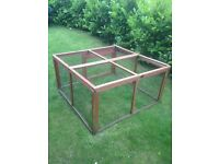 Full set up-Rabbit hutch with two child friendly rabbits plus run