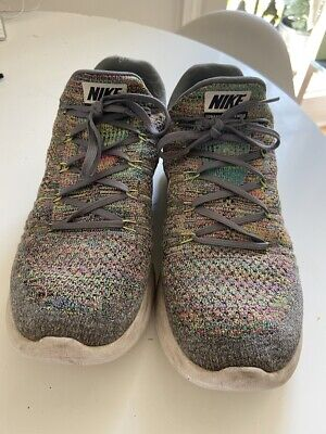 nike lunar epic fly knit 2 lunarlon trainers UK 10 worn gym scally lad