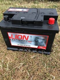 CAR BATTERY, BRAND NEW USED TO START CAR ONCE