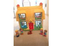 Early Learning Centre Happyland sets, Rose Cottage, Village Vet, School Bus, Car and Horse