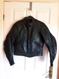 Ladies motorbike leather trousers and jacket