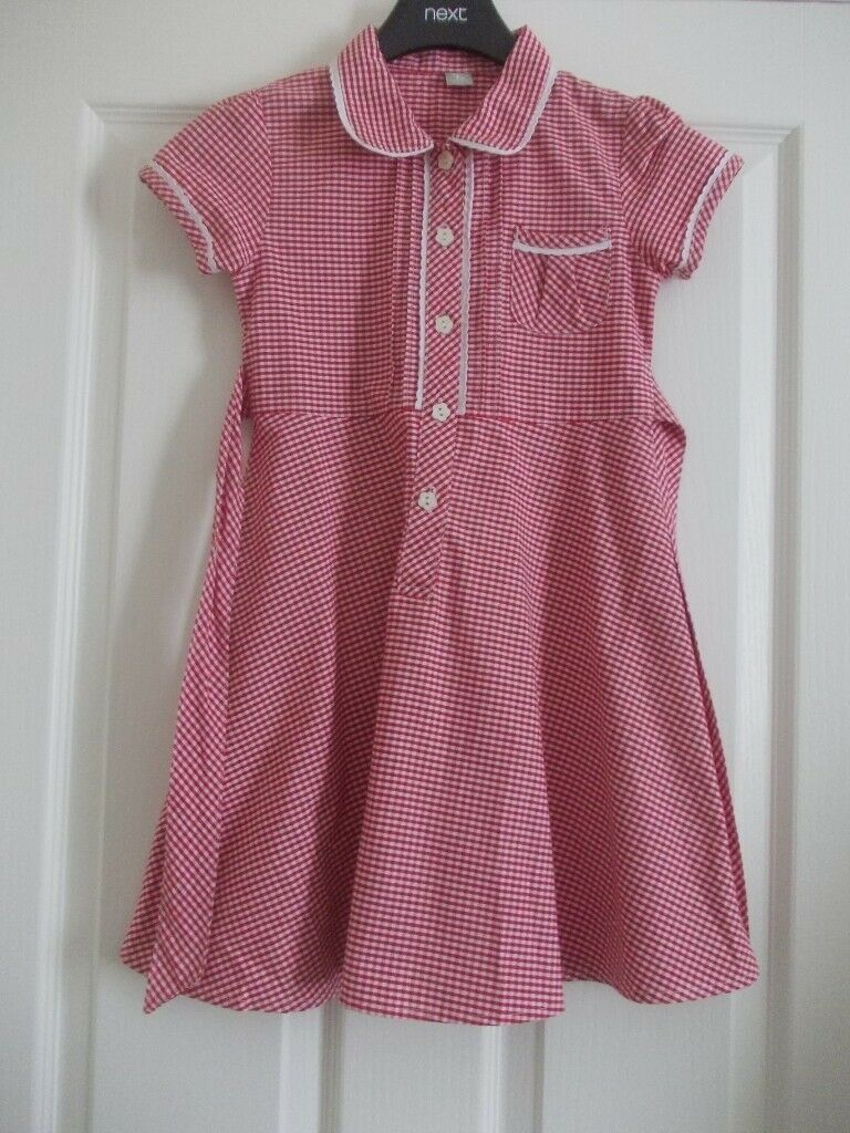 b83e24f13f3d04 GIRLS TU at Sainsbury s Red Summer School Dress AGE 6 YEARS X2 PERFECT  CONDITION £1.50 for both