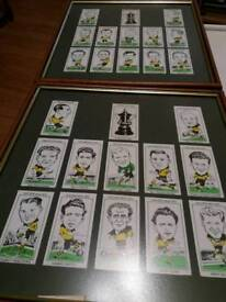 1949 & 1960 Wolves FA Cup Winner Cards in 2 Frames.